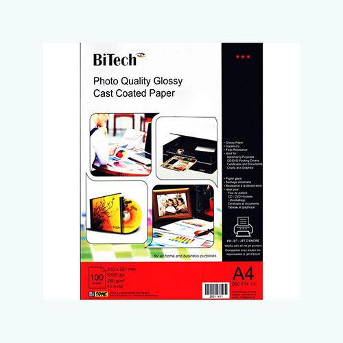 photo quality glossy paper 100sheets / A4/260g