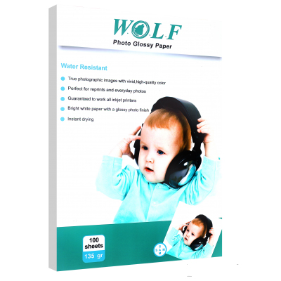 Wolf A3 Photo Glossy Paper 135gr 100sh