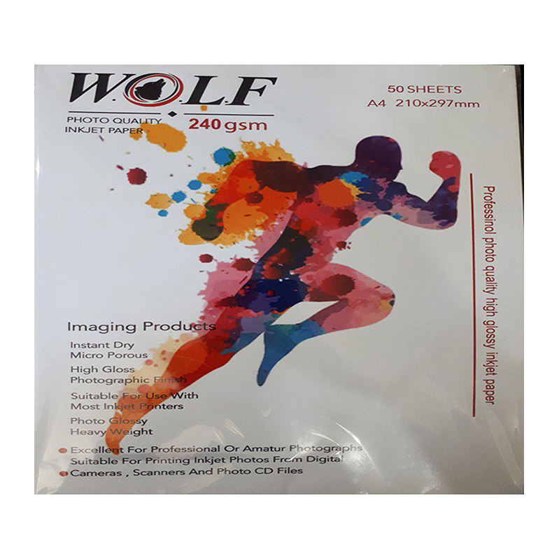 Wolf A4 Photo Glossy Paper 240g 50sh